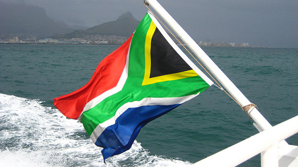 Flag of South Africa (Photo by Brian Burger) (CC BY) (Resized/Cropped)