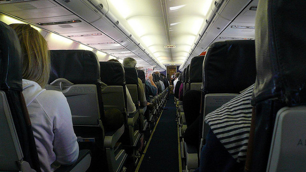 Inside a Southwest Airplane (Photo by Michael Gray) (CC BY) (Resized/Cropped)