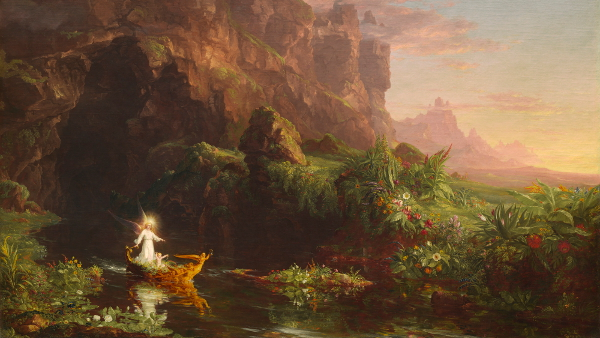 The Voyage of Life: Childhood (Painted by Thomas Cole) (1842)