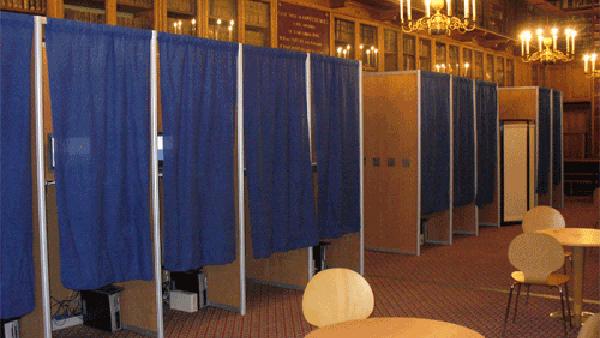 voting booths PUBLIC DOMAIN