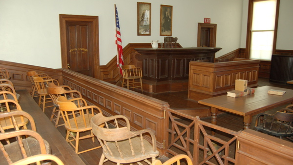 Courtroom inside Tombstone Courthouse State Historic Park, Arizona, USA