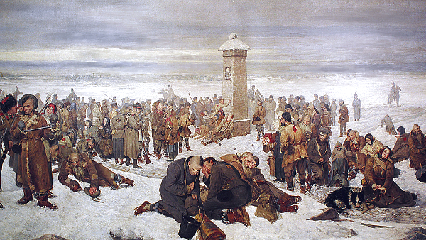 Farewell Europe! (Painted by Aleksander Sochaczewski) (1894) {US-PD}