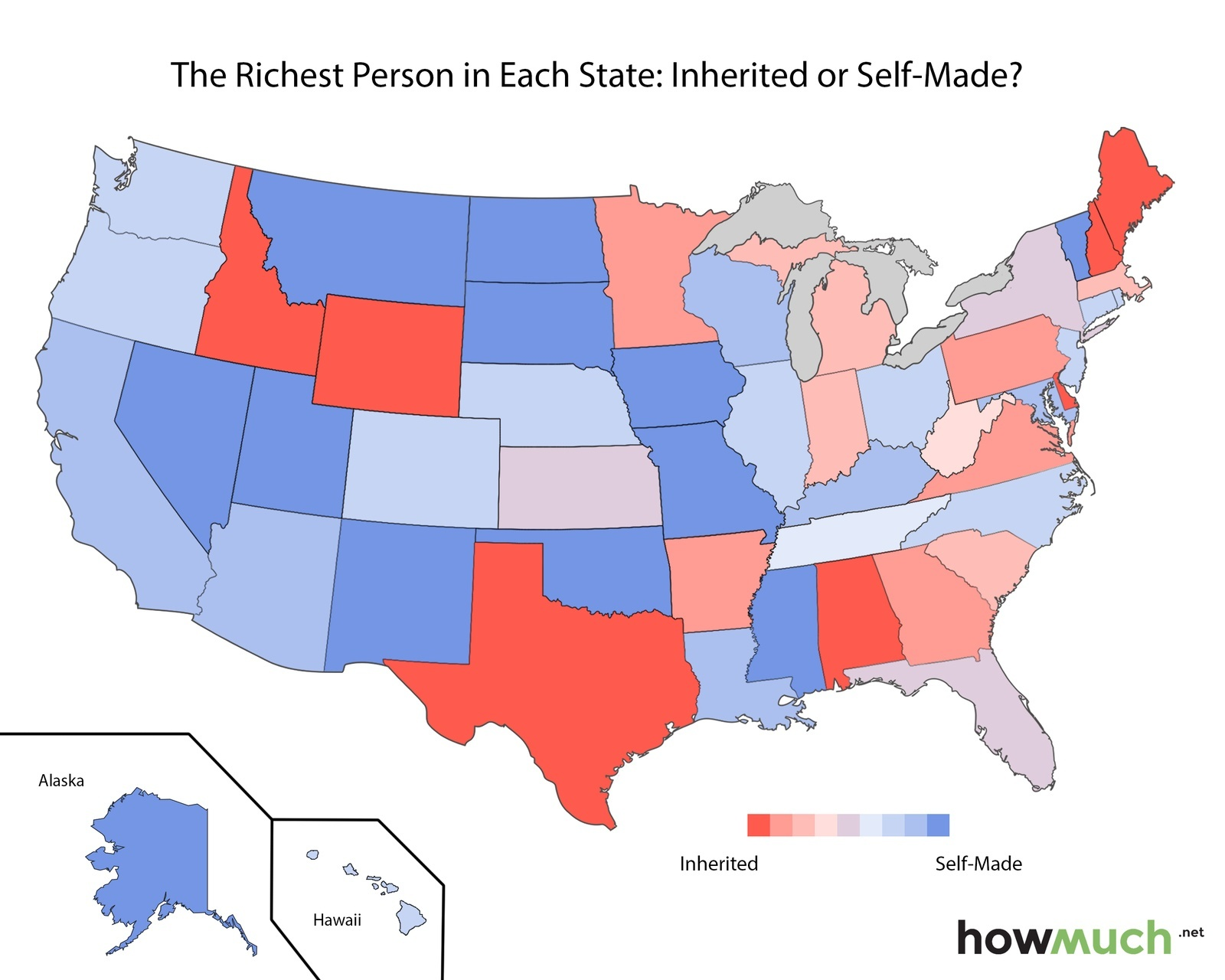 Richest Person in US States HOWMUCH.COM