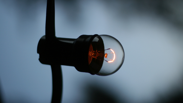 dim light bulb (Photo by Jan-Erik Finnberg) (CC BY) (Resized/Cropped)