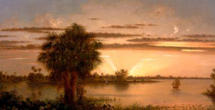 Florida Sunrise (Painted by Martin Johnson Heade) (c. 1890-1900)