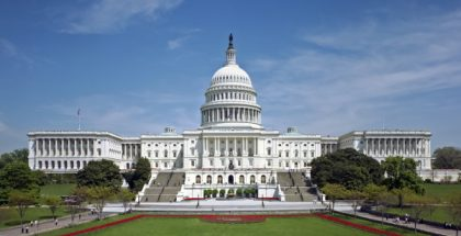 Front of the United States Capitol building in Washington D.C.