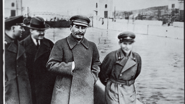 Joseph Stalin at the Moscow-Volga canal in 1937