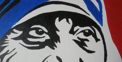 """Mother Teresa """"Blessed Teresa of Calcutta, M.C."""" (Photo by Denise Krebs) (CC BY) (Resized/Cropped)"""