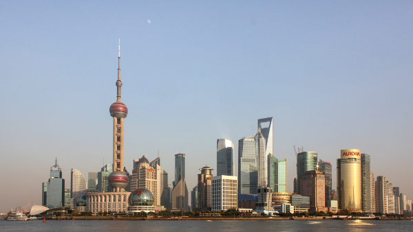 Pudong district of Shanghai, China (Photo by J. Patrick Fischer) (CC BY-SA) (Resized/Cropped)