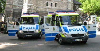 Sweedish police vans PUBLIC DOMAIN