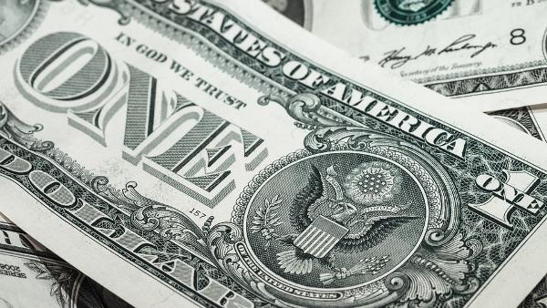 US one dollar bill money PUBLIC DOMAIN