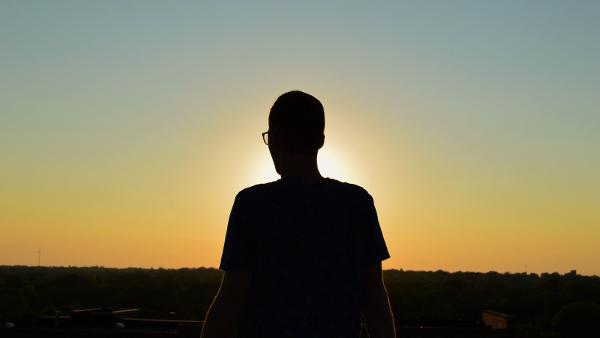 person sunset PUBLIC DOMAIN