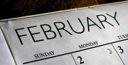 February calender PUBLIC DOMAIN