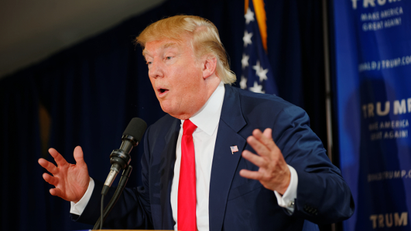 Donald John Trump, Republican presidential candidate (Photo by Michael Vadon) (CC BY-SA) (Resized/Cropped)