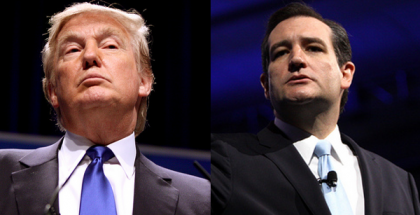Donald John Trump and Rafael Edward 'Ted' Cruz (Photos by Gage Skidmore) (CC BY-SA) (Resized/Cropped)