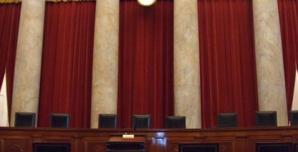Inside the United States Supreme Court building