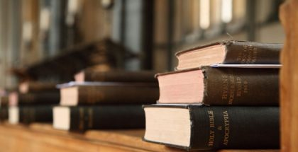 Bibles and books in a church PUBLIC DOMAIN