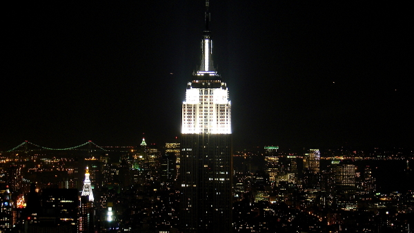 Empire State Building, New York City, New York (Photo by mistress_f) (CC BY) (Resized/Cropped)