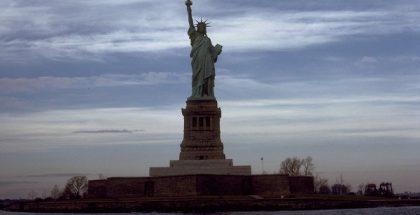 Statue of Liberty on Liberty Island, New York City, New York
