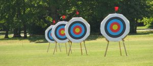 Archery targets at Reading University, England (Photo by IMG_5563) (CC BY) (Resized/Cropped)