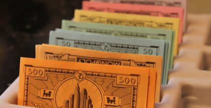 Arranged Money (Photo by Anil Mohabir) (CC BY-SA) (Resized/Cropped)