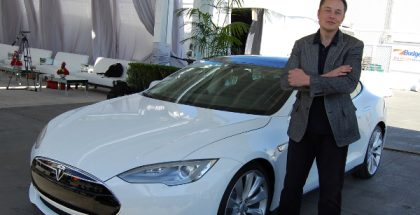 Elon Musk, CEO of Tesla Motors (Photo by Maurizio Pesce) (CC BY) (Resized/Cropped)