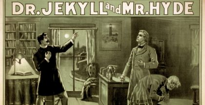 The Strange Case of Dr. Jekyll and Mr. Hyde poster (Photo courtesy of U.S. Library of Congress, by Chicago National Prtg. & Engr. Co.) (CC BY) (Resized/Cropped)