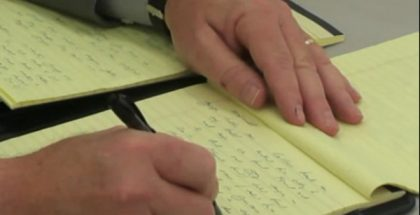Yellow legal pad (Photo by John S. Quarterman) (CC BY) (Resized/Cropped)