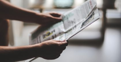 reading news paper PUBLIC DOMAIN