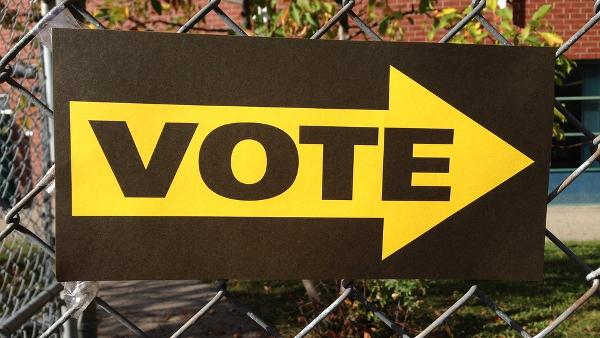 vote sign PUBLIC DOMAIN