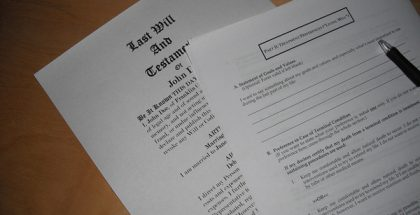 Last Will and Testament (Photo by Ken Mayer) (CC BY) (Resized/Cropped)