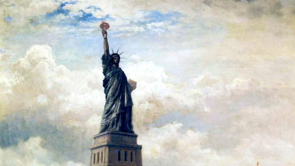 Statue of Liberty unveiled (Painted by Edward Moran) (1886)