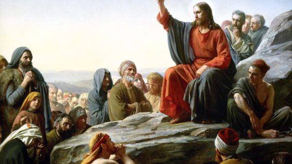 The Sermon On the Mount (Painted by Carl Heinrich Bloch) (1877) {{PD-US}}