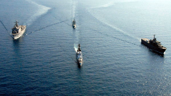 U.S. Navy and Republic of Singapore ships in the South China Sea (2008)