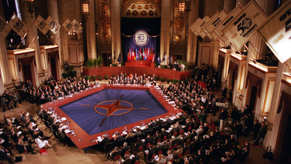 NATO Summit in Melon Auditorium, Washington, D. C. in 1999