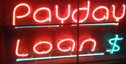 Payday Loans Neon Sign (Photo by Jason Comely) (CC BY) (Resized/Cropped)