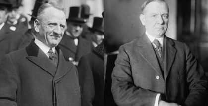 Senator Carter Glass and Representative Henry B. Steagall, the co-sponsors of the Glass-Steagall Act