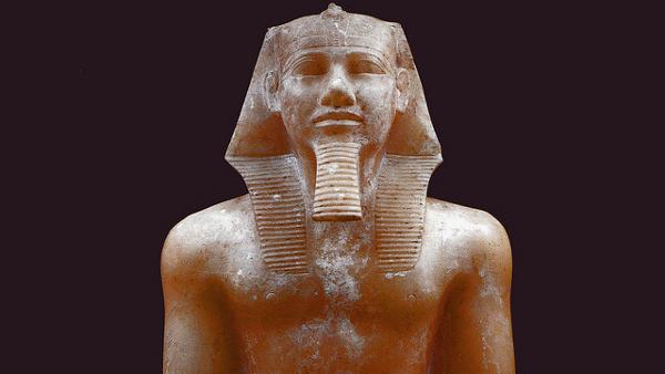 Statue of Pharoah Khafre, Cairo (Photo by Juan R. Lazaro) (CC BY) (Resized/Cropped)
