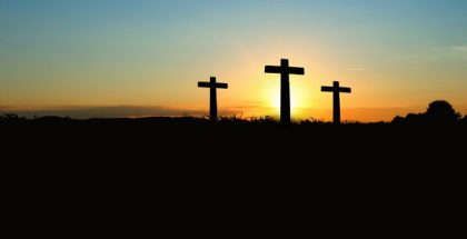 crosses sunset PUBLIC DOMAIN