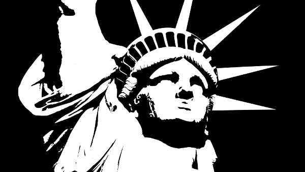 statue of liberty greyscale PUBLIC DOMAIN