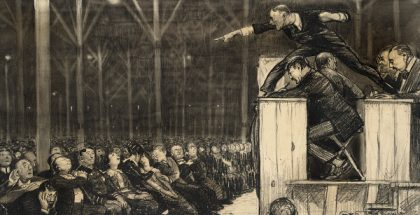 Preaching (Photo by Boston Public Library) (Created by Bellows, George) (1882) (CC BY) (Resized/Cropped)