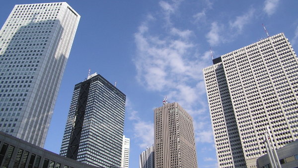 Skyscrapers of Shinjuku (Photo by Morio) (CC BY-SA) (Resized/Cropped)