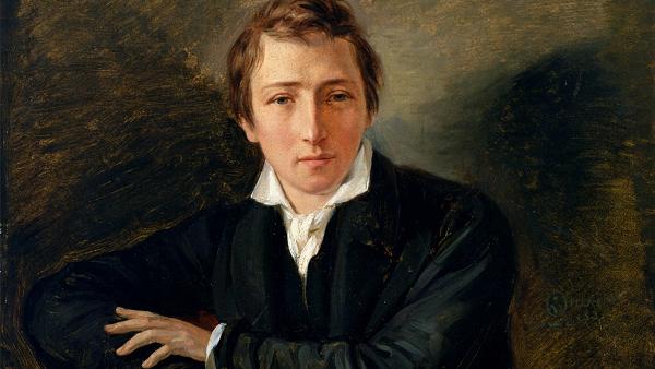 Heinrich Heine by Moritz Daniel Oppenheim