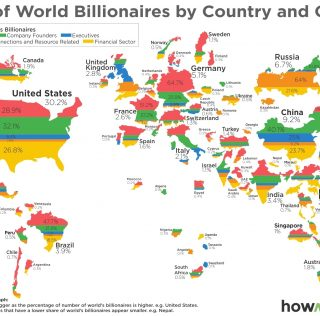 The World Map of Billionaires