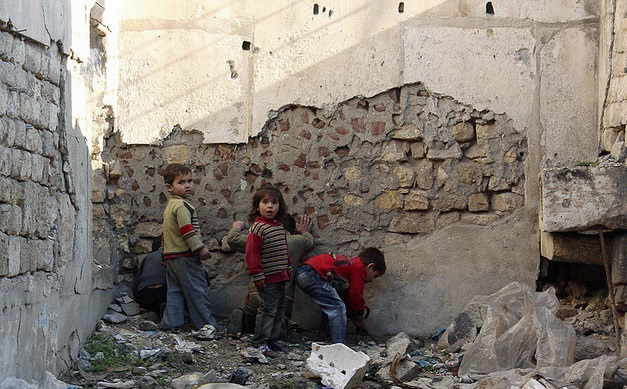"""Lost childhood - Children of Aleppo, Syria,"" by Freedom House. (CC BY 2.0)"