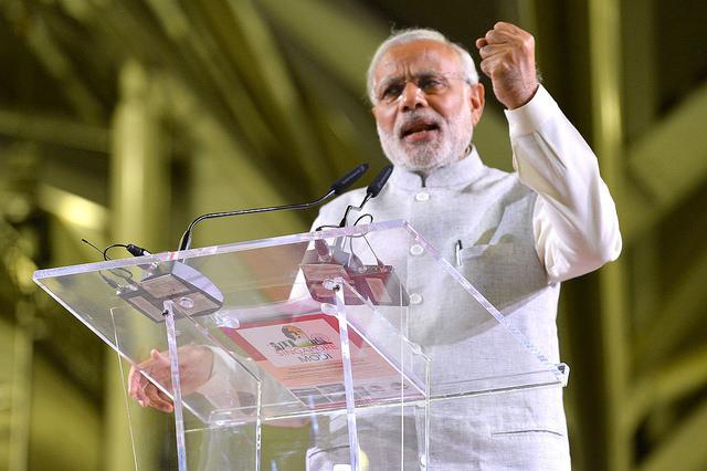 Narendra Modi, Prime Minister of India. Resized/Cropped, CC BY-SA 2.0