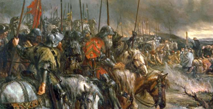 morning_of_the_battle_of_agincourt_25th_october_1415