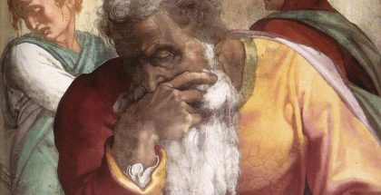 Jeremiah depicted in the Sistine Chapel