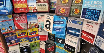Gift cards, CC BY-SA 2.0, Resized/Cropped