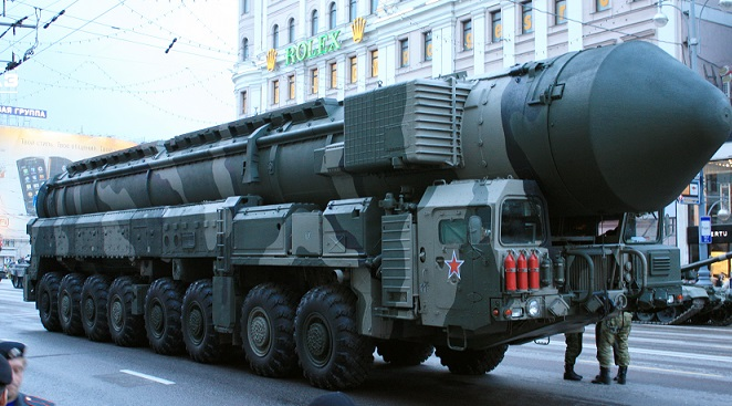 RT-2PM2 Topol-M, first nuclear-capable ICBM to be developed by Russia after the dissolution of the USSR